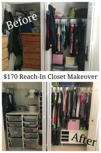 $170 Reach-In Closet Makeover