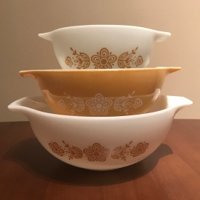 Butterfly Gold Cinderella Bowls #441, 442, 443, 1970s