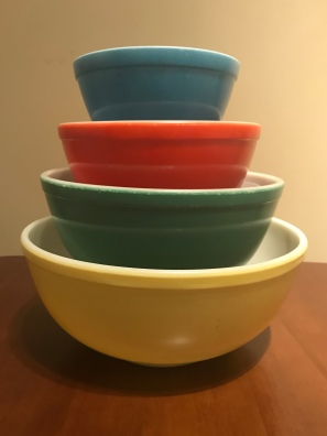 Primary Colors Mixing Bowls, 1940s