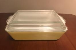 Primary Colors Refrigerator Dish, 1940s