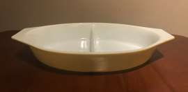 Verde Divided Dish (no lid) #063, 1970s