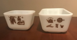 Early American Refrigerator Dishes (no lids) #501 & 502, 1960s