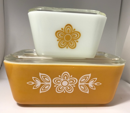 Butterfly Gold Refrigerator Dishes #501 & #502 (1972-1978)